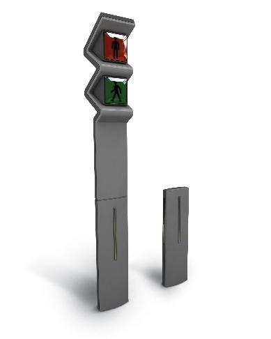 빔을 이용한 보조신호기가 있는 신호등